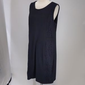 Merona stretch shift dress w lace inserts-sz XXL